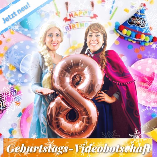 Prinzessinnen Geburtstags-Videobotschaft zum 8.Geburtstag